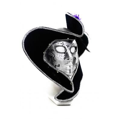 Trblietavá maska s klobúkom – dámska