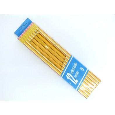 Ceruzky s gumou 12 kusov, C-45-1080
