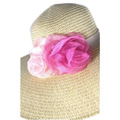 Dámsky klobúk 2kvety