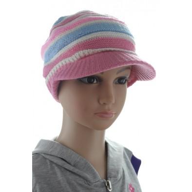 Detská baretková čiapka - pásiková