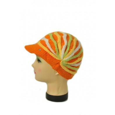 Dievčenská čiapka - farebný baret