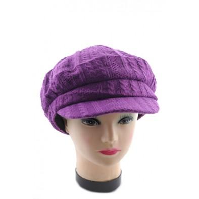 Dámska pletená čiapka so šiltom