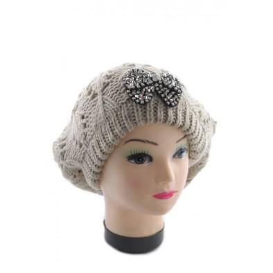 Dámska čiapka - baretka s mašľou