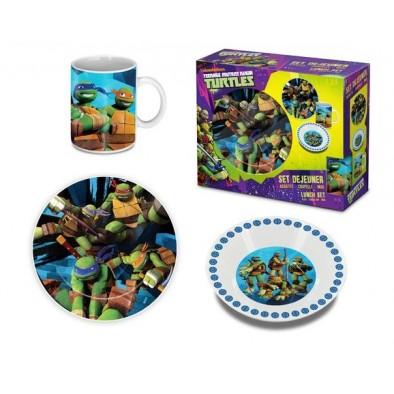 Raňajkový set  detský Turtles 3 dielny