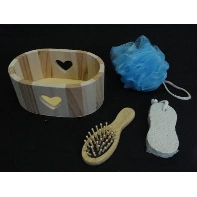 Sauna set srdce 16cm, C-7-1208