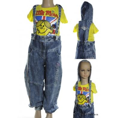 Nohavice s trakmi a kapucňou - detské, C-7-3002