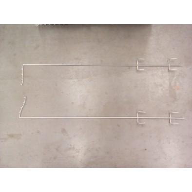 Hák  v tvare L na kôš na pravú a ľavú stranu 108cm