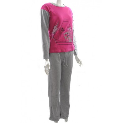 Dámske pyžamo - pes,dlhy rukav