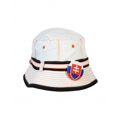 Klobúk Slovensko - biely