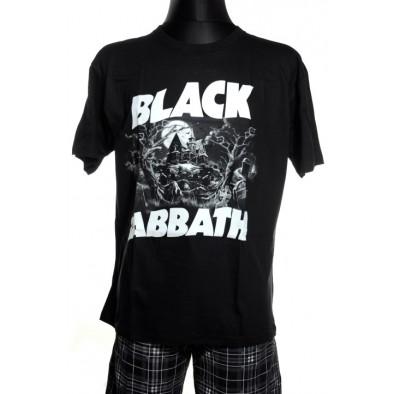 Pánske tričko Black Sabbath, čiernobiele