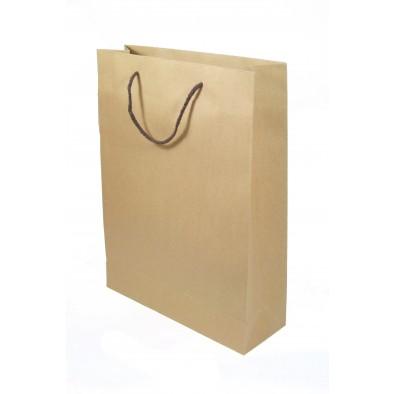 Taška papierová - hnedá 28 x 33 x 10 cm